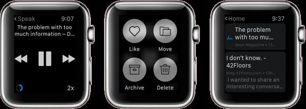 App Watch: Instapaper, Fantastical, Reminders Nano