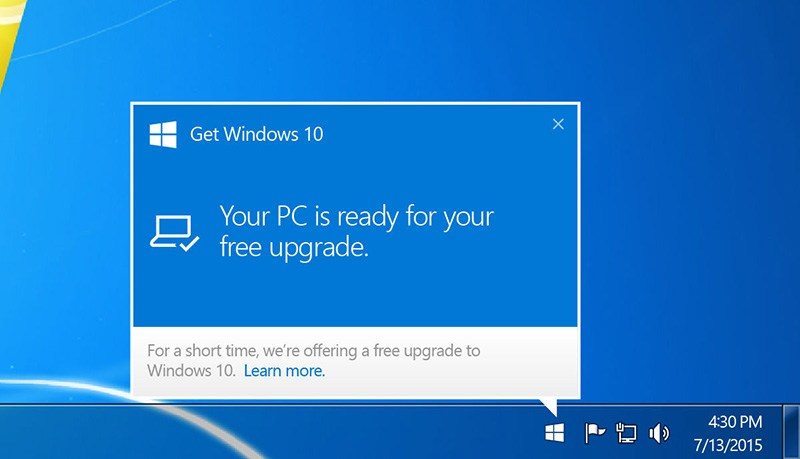 Microsoft will soon stop offering you to upgrade to Windows 10