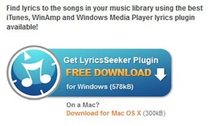 Automatically Get Song Lyrics for iTunes, Windows Media Player or WinAmp