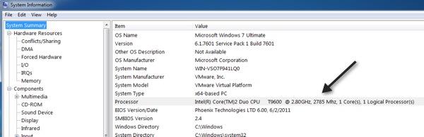 Identify Your Intel Processor (CPU) in Windows