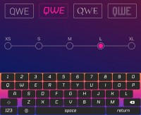 Custom Keyboard for iOS gives your keyboard a totally new look