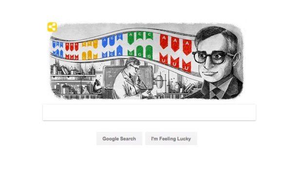 Google Celebrates Dr. Har Gobind Khorana with Home Page Doodle