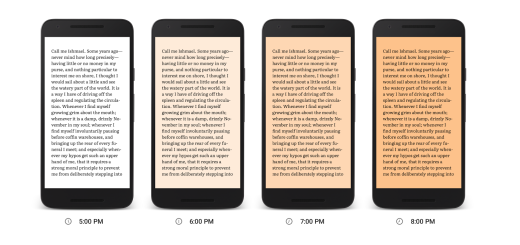 Google Play Books adds a nighttime reading mode