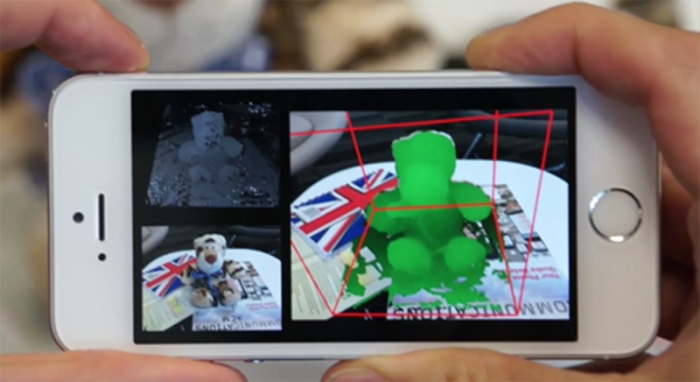 Microsoft is working on a technology that turns a smartphone's camera into a 3D scanner