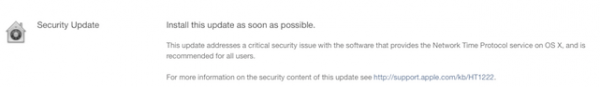 Apple releases a security fix for OS X Network Time Protocol issue