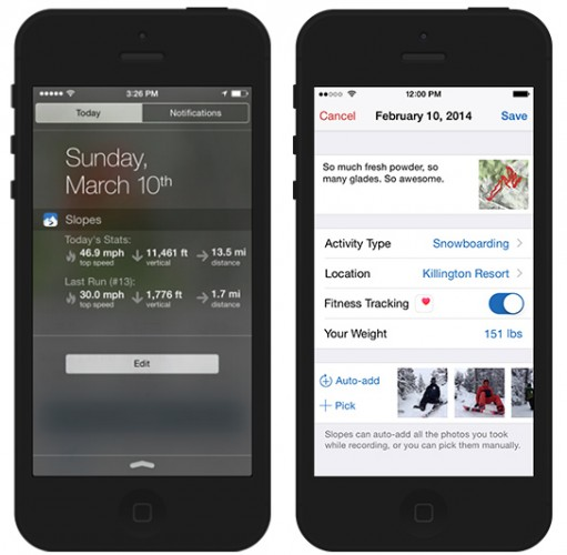 Slopes 1.4 hits the app store with Health Kit integration and more
