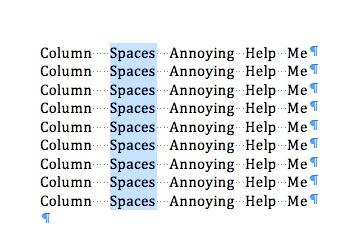 Mac 101: Option-select those columns