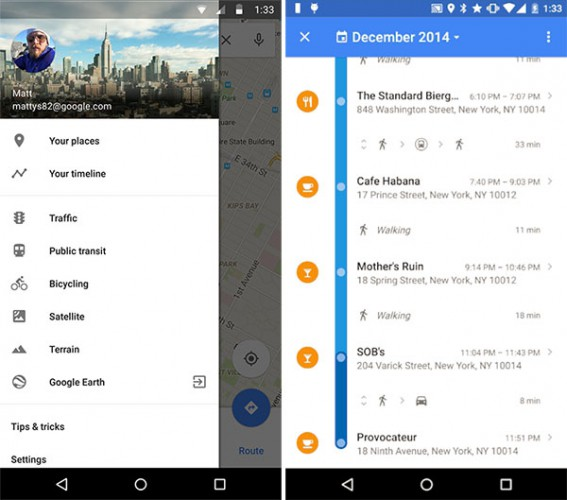 Google Maps 'Your Timeline' Displays Digital Breadcrumbs For Finding Your Way Back Home