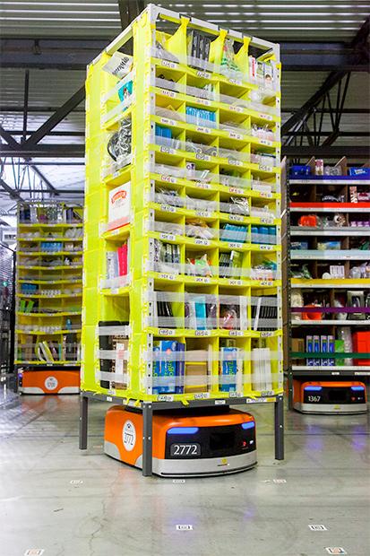 Amazon Employs Hulking Kiva Robots To Move Product Around Its Warehouses For Holiday Shopping Rush