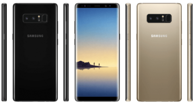 Samsung leak shows the new Galaxy Note 8 in all of its glory