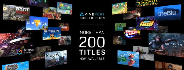 HTC's Viveport Subscription Boasts More Than 200 VR Experiences
