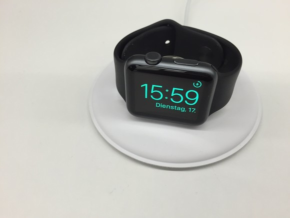Is this disc-shaped accessory the official Apple Watch charging dock?