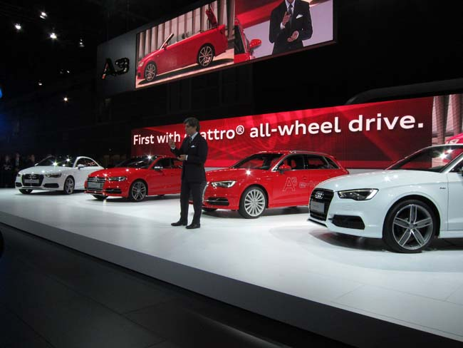 Audi shows full A3 lineup at LA Auto Show