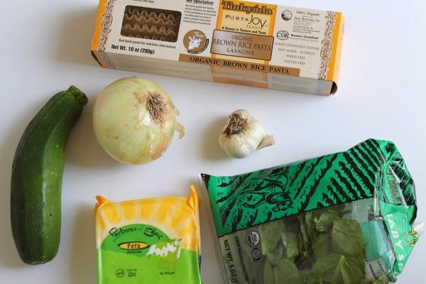 Slow cooker turkey, veggie and feta lasagna
